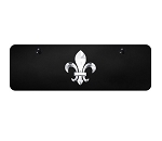 Fleur-De-Lis Logo on Black Mini Plate - Gold or Polished Logo Options