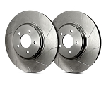 C2 C3 Corvette 1963-1982 SP Performance Slotted Rotors With Silver Zinc Plating - Multiple Options