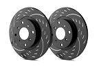 C2 C3 Corvette 1963-1982 SP Performance Diamond Slot Rotors with Black Zinc Plating - Multiple Options