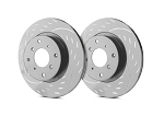 C2 C3 Corvette 1963-1982 SP Performance Diamond Slot Rotors with Gray ZRC - Multiple Options