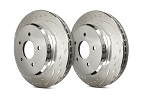 C2 C3 Corvette 1963-1982 SP Performance Diamond Slot Rotors with Silver Zinc Plating - Multiple Options
