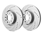 C2 C3 Corvette 1963-1982 SP Performance Drilled And Slotted Rotors With Gray ZRC - Multiple Options