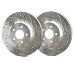 C2 C3 Corvette 1963-1982 SP Performance Drilled And Slotted Rotors With Silver Zinc Plating - Multiple Options