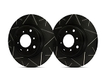 C2 C3 Corvette 1963-1982 SP Performance Peak Series Rotors With Black Zinc Plating - Multiple Options