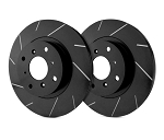 C2 C3 Corvette 1963-1982 SP Performance Slotted Rotors With Black Zinc Plating - Multiple Options