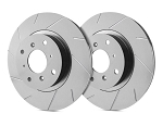 C2 C3 Corvette 1963-1982 SP Performance Slotted Rotors With Gray ZRC - Multiple Options