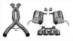 C7 Corvette Stingray/Grand Sport 2014-2019 Corsa Performance Valve-Back + X-Pipe Cat-Back Exhaust System w/ Quad 4.5in Polished Tips