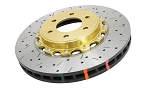 C6 Corvette Z06/Grand Sport 2006-2013 DBA Front 5000 Series Drilled & Slotted Assembled Rotor w/ Gold Hat