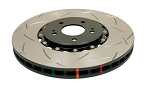 C6 Corvette Z06/Grand Sport 2006-2013 DBA Front T3 5000 Series Slotted Assembled Rotor w/ Black Hat
