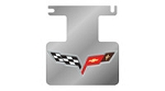 Corvette C6 Logo Only Polished Exhaust Enhancer Plate-Not For NPP Exhaust