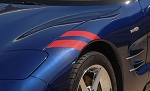 C5 Corvette 1997-2004 Grand Sport-Style Fender Accent Stripes