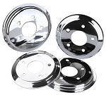 C5 Corvette 1997-2004 Hub Rotor Covers - Chrome / Red / Black