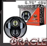 C3 Corvette 1968-1982 Oracle LED Headlamp Replacement - 5.75 Inch / 40 W - Black Or Chrome Bezel 4Pc