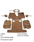 C4 Corvette 1988-1992 Coupe Carpet Set Cut Pile - Rear With Pad Options