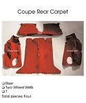 C4 Corvette 1993 Coupe Carpet Set Cut Pile - Rear With Pad Options