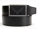 C7 Corvette Stingray/Z06/Grand Sport 2014+ Etched Leather Belt With Jewels