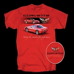 C5 Corvette 1997-2004 Setting The Standard For Performance T Shirt - Red