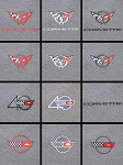 C4 C5 Corvette 1984-2004 Floor Mats with Embroidered Emblem - Grand Touring
