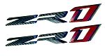 C7 Corvette ZR1 2019 Emblem Overlays (Pair) - Color Selections