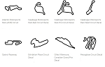 North America Track Outline Decals - Canada - Size & Color Selection
