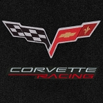 C6 Corvette 2005-2013 Lloyd Ultimat Corvette Racing & Cross Flags Cargo Mat