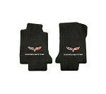 C6 Corvette 2005-2013 Lloyd Ultimat Logo and Lettering Front Floor Mats