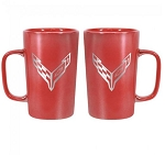 C8 Next Gen Corvette 2020+ 16 oz Red Ceramic Mug