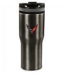 C8 Next Gen Corvette 2020+ 20 oz Vacuum Tumbler w/ Cross Flags Emblem
