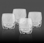 C8 Next Gen Corvette Glassware Set w/ Cross Flag - Size Option