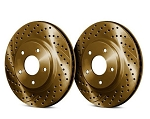 C4 Corvette 1984-1996 Drilled and Slotted Chromium Brake Rotors - 5 Finish Options