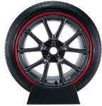 Universal Rim Guard Wheel Trim Kit - Red