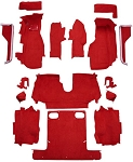 C4 Corvette 1986-1987 Convertible Carpet Set Cut Pile - Complete With Pad Options