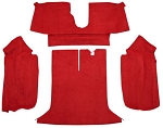C4 Corvette 1994-1996 Coupe/Convertible Carpet Set - Rear With Pad Options