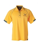 C7 Corvette 2014-2019 Yellow w/ Charcoal Accent Corvette Racing Polo