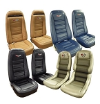 C3 Corvette 1972-1982 Embroidered Leather Seat Covers - Set of 2 - 100% Leather
