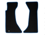 C4 Corvette 1991-1996 Black Floor Mats w/ Blue Accent Binding
