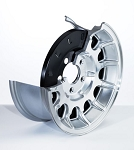C5 Corvette 1997-2004 Alloy Brake Dust Cover - 5 Spoke Design - Pair - Size & Year Options