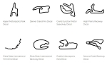 North America Track Outline Decals - Colorado - Size & Color Selection