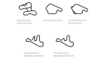 North America Track Outline Decals - Connecticut - Size & Color Selection