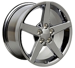 C6 Corvette 2005-2013 C6 Style Wheel Set - Chrome 18x9.5 / 19x10