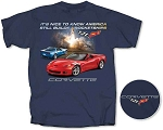C6 Corvette 2005-2013 America Still Builds Rocketships T Shirt