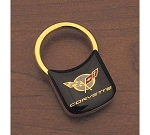 1997-2004 C5 Corvette Padlock Style Key Chain-Black & Gold