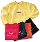 2005-2013 C6 Corvette Embroidered Crew Sweatshirt - Car Matching Colors