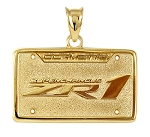 C5 C6 Corvette 1997-2013 Models License Plate Pendants - Z06, ZR1 & Grand Sport - 14K Gold & Sterling Silver