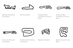 Europe Track Outline Decals - France - Size & Color Selection