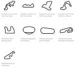 North America Track Outline Decals - Illinois - Size & Color Selection