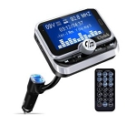 FM Transmitter - Bluetooth Radio Adapter Audio Receiver Stereo Music Tuner Modulator Car Kit w/ USB Charger & Remote Control