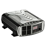 Cobra Power Inverter w/ 4 Grounded AC Plugs - 1,500W