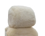 Universal 1-Inch + Thick Sheepskin Head Rest Covers
