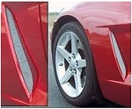 C6 Corvette Base/Z06 2005-2013 Affordable Front Side Vent Screens - Pair